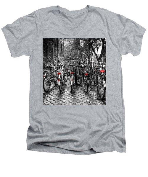 Bicycle Park Men's V-Neck T-Shirt