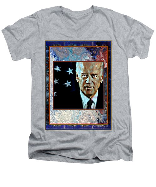 Biden Men's V-Neck T-Shirt by Wbk