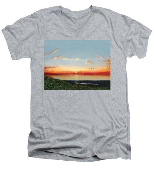 Big Assawoman Bay Men's V-Neck T-Shirt