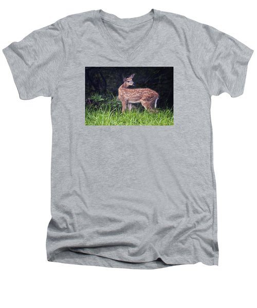 Big Bambi Men's V-Neck T-Shirt
