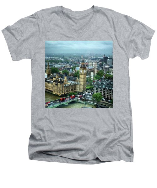 Big Ben From The London Eye Men's V-Neck T-Shirt