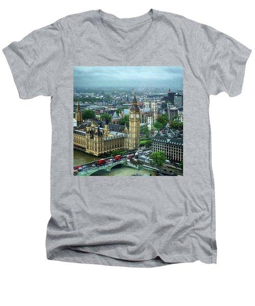 Big Ben From The London Eye Men's V-Neck T-Shirt
