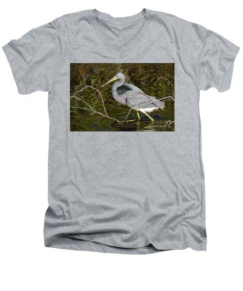 Big Bird Little Stick Men's V-Neck T-Shirt