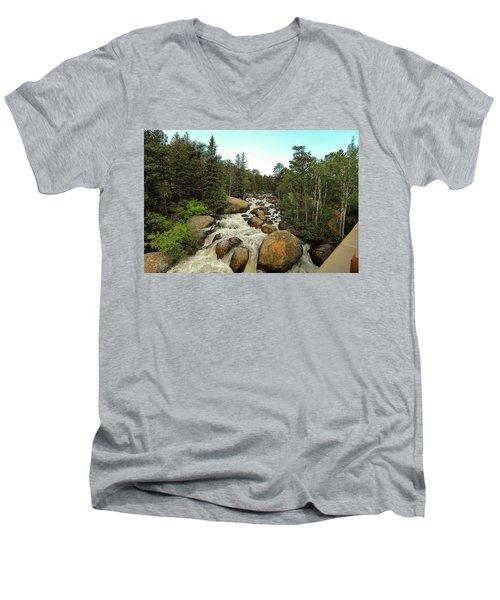 Big Boulder Men's V-Neck T-Shirt