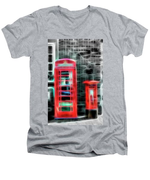 Men's V-Neck T-Shirt featuring the photograph Big Box Little Box by Scott Carruthers