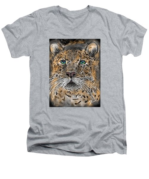 Big Cat Men's V-Neck T-Shirt