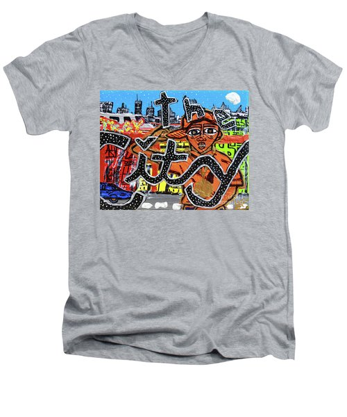 Big Cities Men's V-Neck T-Shirt