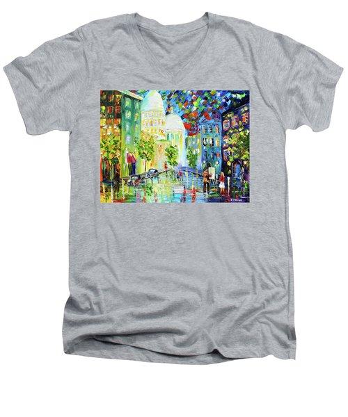 Big City Men's V-Neck T-Shirt