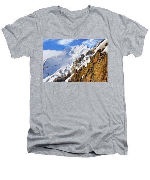 Big Cotonwood Canyon Men's V-Neck T-Shirt