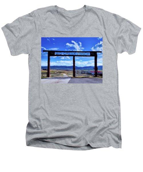 Big Creek Ranch Men's V-Neck T-Shirt by L O C