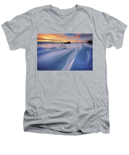 Big Drifts Men's V-Neck T-Shirt by Dan Jurak