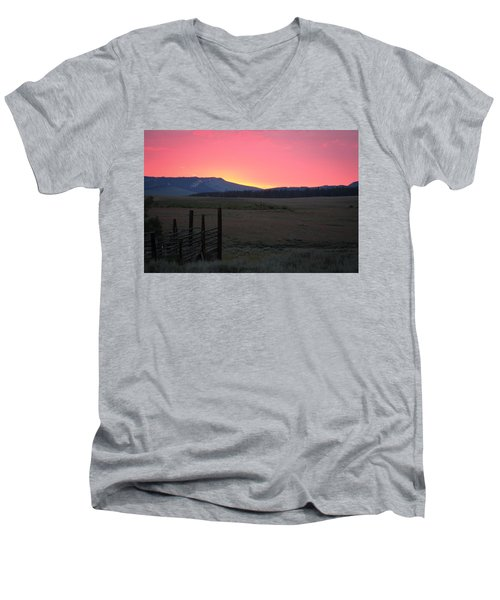 Big Horn Sunrise Men's V-Neck T-Shirt