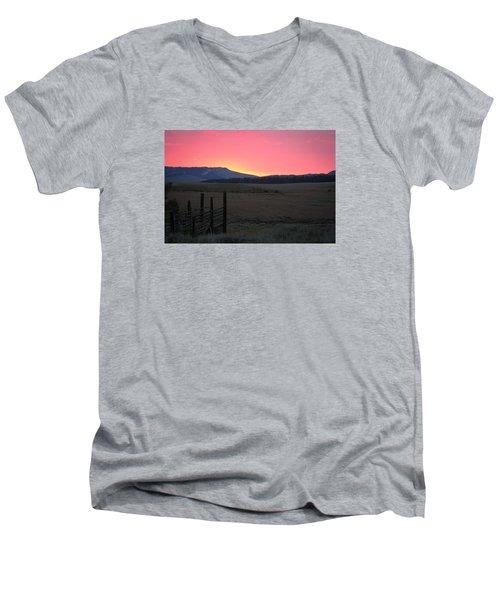 Big Horn Sunrise Men's V-Neck T-Shirt