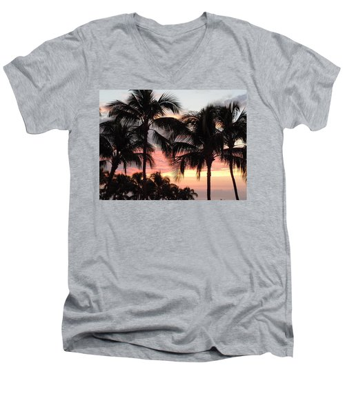 Big Island Sunset 1 Men's V-Neck T-Shirt