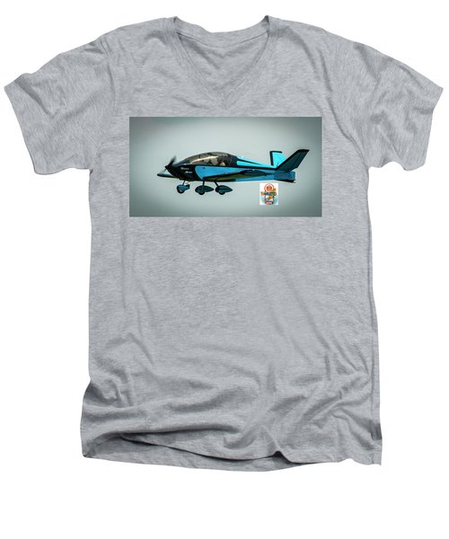 Big Muddy Air Race Number 100 Men's V-Neck T-Shirt