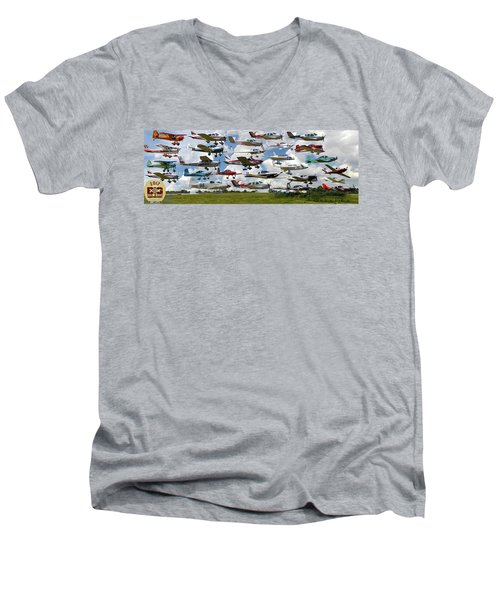 Big Muddy Fly-by Collage Men's V-Neck T-Shirt