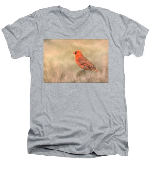Big Red Men's V-Neck T-Shirt