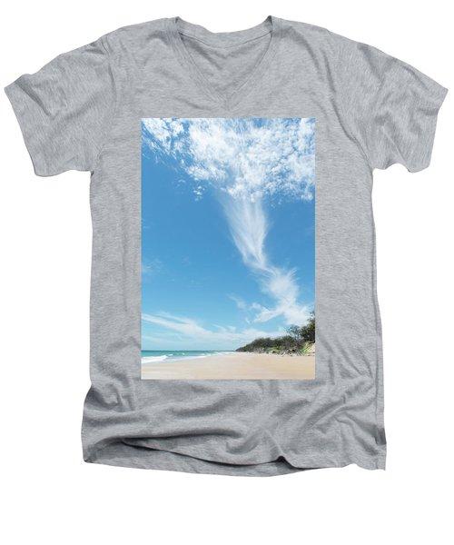 Big Sky Beach Men's V-Neck T-Shirt
