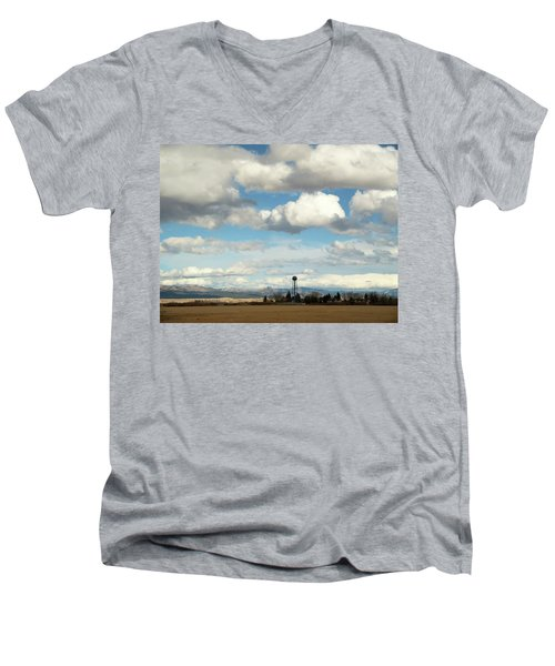 Big Sky Water Tower Men's V-Neck T-Shirt