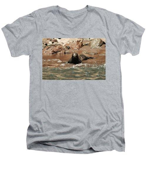 Big Smile Men's V-Neck T-Shirt