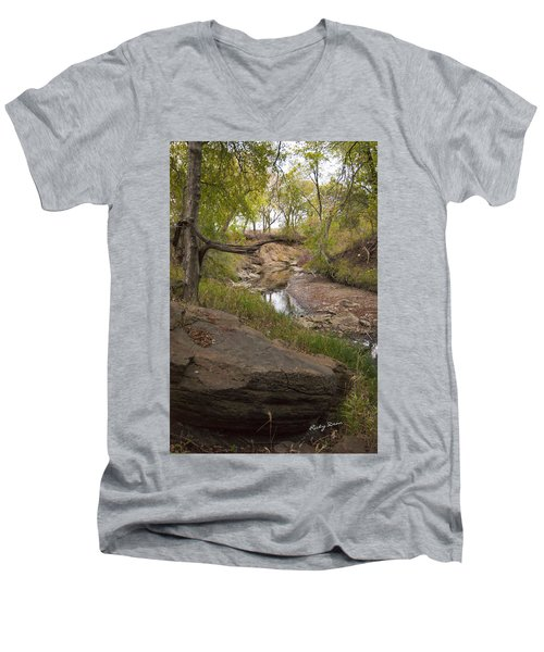 Big Stone Creek Men's V-Neck T-Shirt by Ricky Dean