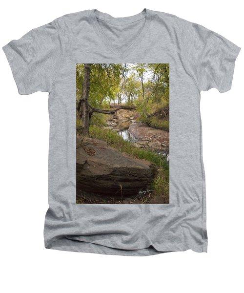 Big Stone Creek Men's V-Neck T-Shirt