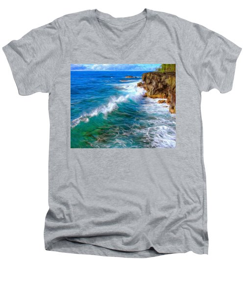 Big Sur Coastline Men's V-Neck T-Shirt