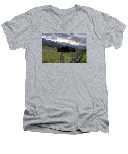 Big Sur Fence Line Men's V-Neck T-Shirt