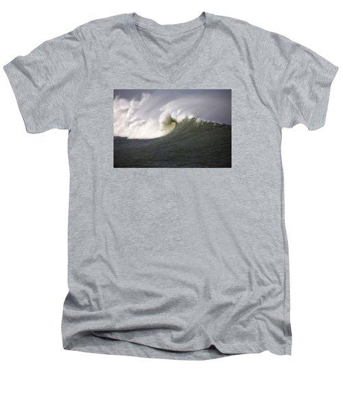 Big Waves #3 Men's V-Neck T-Shirt by Mark Alder