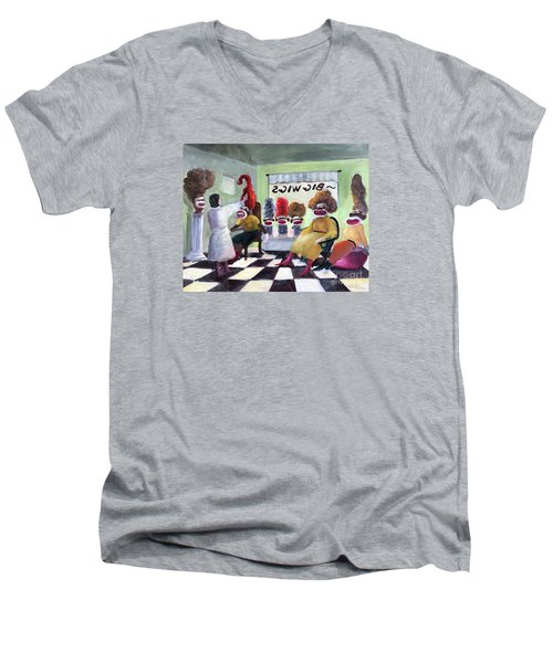 Big Wigs And False Teeth Men's V-Neck T-Shirt
