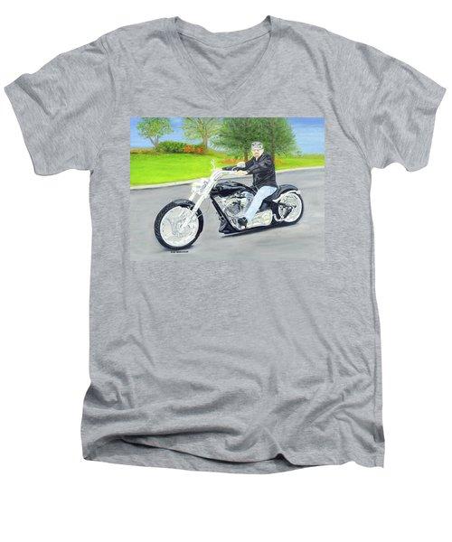 Bigdog Bulldog Men's V-Neck T-Shirt