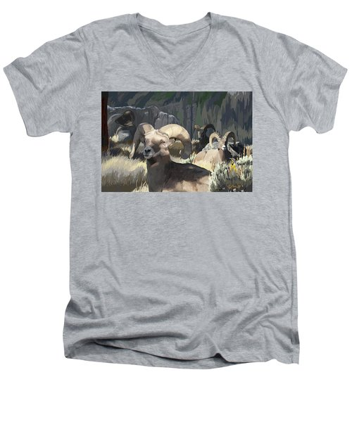 Bighorn Boys Men's V-Neck T-Shirt