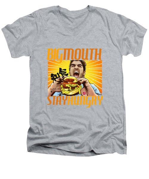 Bigmouth Men's V-Neck T-Shirt by Akyanyme