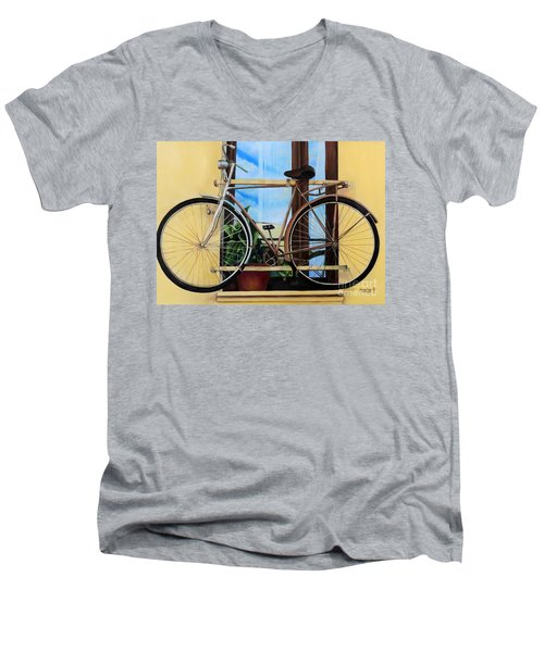 Bike In The Window Men's V-Neck T-Shirt