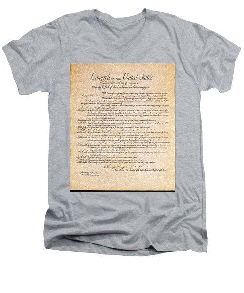 Bill Of Rights Men's V-Neck T-Shirt