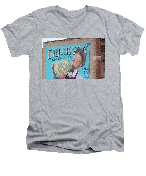 Billboard Men's V-Neck T-Shirt by Pamela Walrath