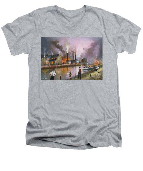 Bilston Steelworks Men's V-Neck T-Shirt