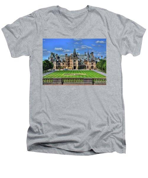 Biltmore Mansion Estate Asheville North Carolina  Men's V-Neck T-Shirt