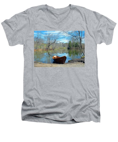 Biltmore Reflections Men's V-Neck T-Shirt by Li Newton