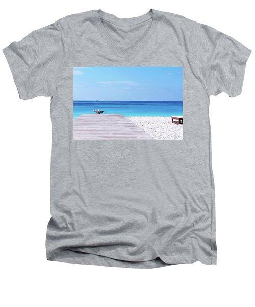 Bimini Beach Club Men's V-Neck T-Shirt