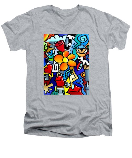 Biomechanical Love Men's V-Neck T-Shirt
