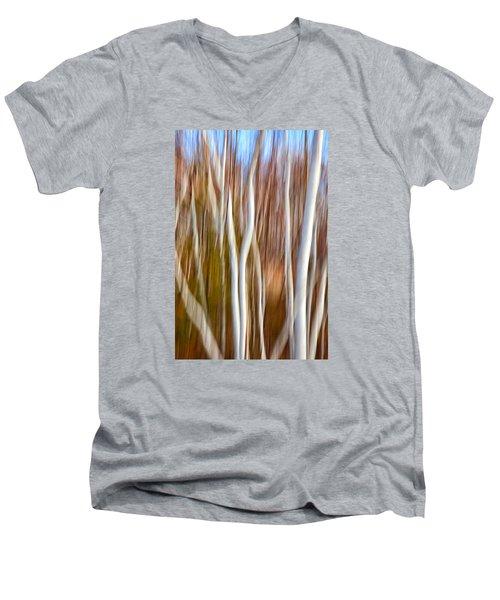 Birch Abstract No. 5 Men's V-Neck T-Shirt