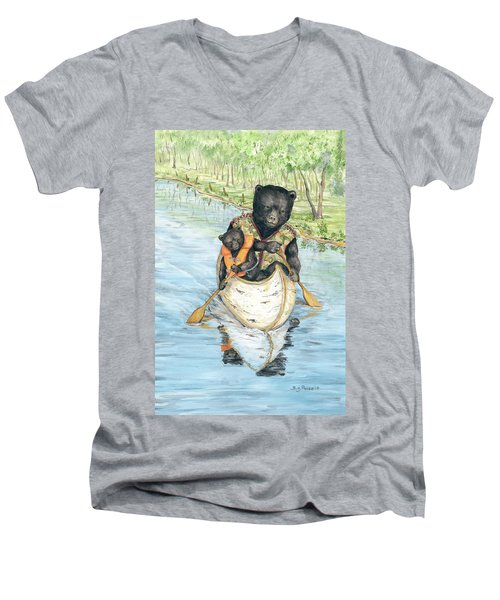 Birch Bark Canoe Men's V-Neck T-Shirt
