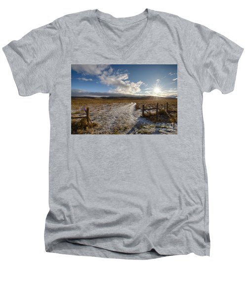 Birch Creek Valley Sun Men's V-Neck T-Shirt