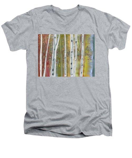 Birch Forest Men's V-Neck T-Shirt
