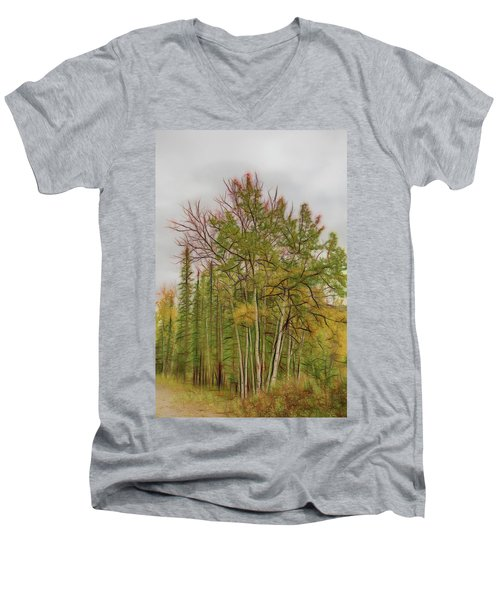Birch Tree #1 Men's V-Neck T-Shirt