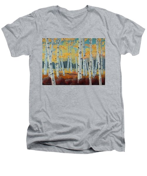 Birchwood Forest Men's V-Neck T-Shirt
