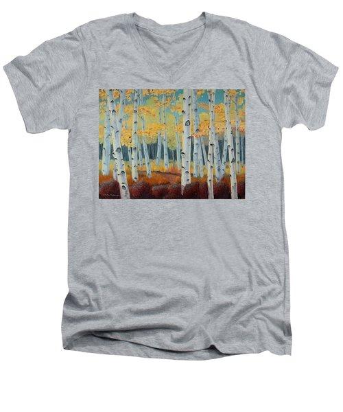 Birchwood Forest Men's V-Neck T-Shirt
