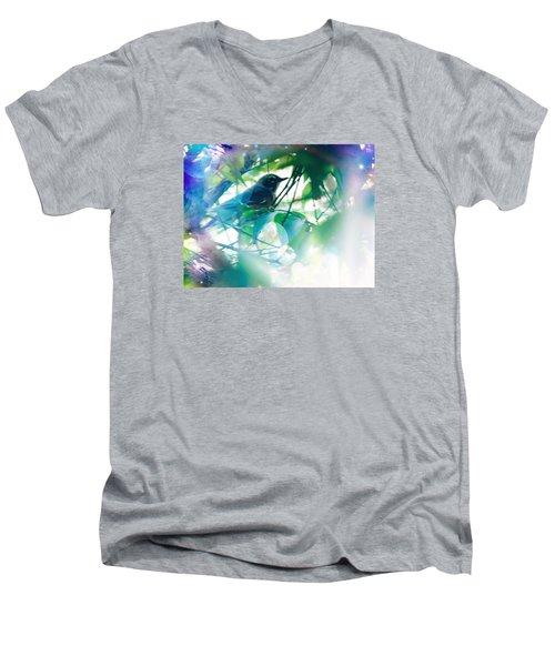 Bird And Blue Men's V-Neck T-Shirt