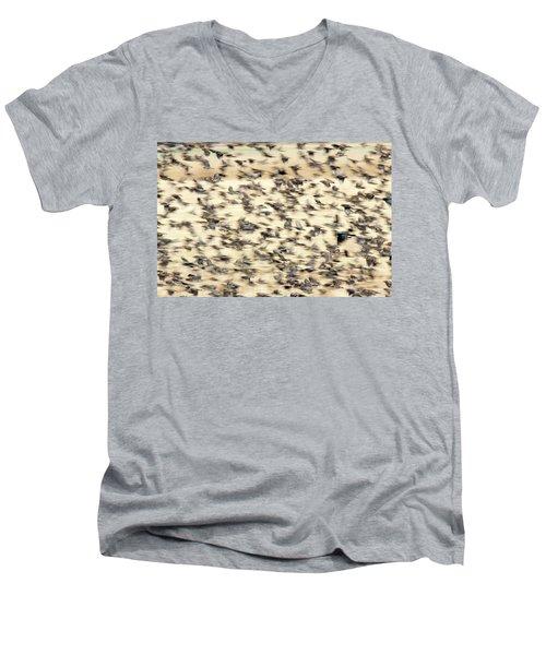 Bird Blizzard Men's V-Neck T-Shirt